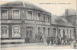 SAINT AUBERT (59) Grand'Place 1919 Belle Animation Magasin éditeur - Francia