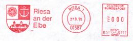 Freistempel 9976 Riesa Wappen Anker Gebäude - [7] République Fédérale
