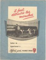 Protège Cahier Il Faut Détruire Les Mouches - Offert Par Pechiney Progil - Buvards, Protège-cahiers Illustrés
