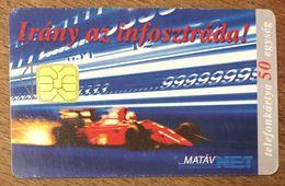 HONGRIE MATAV VOITURE F1 TÉLÉCARTE POUR COLLECTIONNEUR PHONECARD AUTOMOBILE - Automobilismo - F1