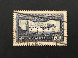 FRANCE S PA 6 Poste Aérienne SL 131 Perforé Perforés Perfins Perfin !! Superbe - Perforadas