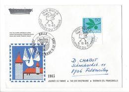 26025 - Journée Du Timbre Bulle 05.12.1965 Pour Feldmeilen - Lettres & Documents