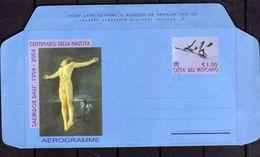 CITTÀ DEL VATICANO VATIKAN VATICAN 2004 SALVADOR DALI' INTERO POSTALE AEROGRAMMA AEROGRAMME NUOVO UNUSED - Entiers Postaux