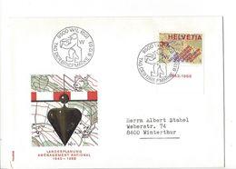 26037 - Tag Der Briefmarke Wil 08.12.1968 Pour Winterthur Landesplanung Aménagement National 1943-1966 - Marcophilie