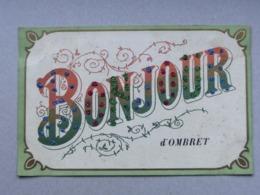 Bonjour D' Ombret, Amay, Carte Fantaisie, Paillettes, Vers Fontin Esneux, 1907 - Amay