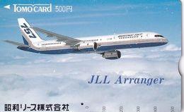 JAPAN - Boeing 757, JLL Arranger, Tomo Prepaid Card Y500, Used - Avions