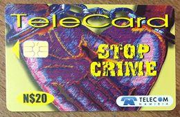 NAMIBIE NAMIBIA STOP CRIME TÉLÉCARTE N$20 PHONECARD CARD - Namibie