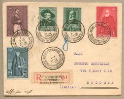 Enveloppe Recommandé Oblitéré De L'expo Internationale D'Anvers Le 7 Août 1930 Pour L'Italie - Non Classés