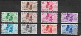 -R.CONGO,indépendance 30 Juin 1960- Série N°372/81,neuf- - República Del Congo (1960-64)