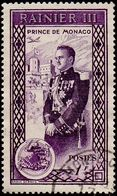 Monaco Obl. N°  340 Avènement Du Prince Rainier 1 Fr Violet - Monaco