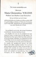 Zonhoven, Westrode-Wolvertem, 1961, Clementina Willems, Ramaekers - Devotion Images