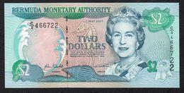 BERMUDE : 2 Dollars - P50b - 2007 - Queen Elisabeth II - UNC - Bermuda