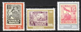Indonesia, 1980, Independence, Stamps On Stamps, MNH, Michel 981-983 - Indonesia