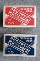 2 Boeken Speelkaarten Rood En Blauw Brouwerij Plasschaert Moerbeke Waas Met Papieren Wikkel - 54 Cards