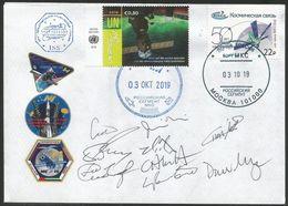 Space Mail Flown Cover / ISS / NASA Astronaut Autograph UAE Cosmonaut Autograph - Russia & URSS