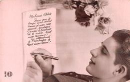 Homme Qui écrit Une Lettre D'amour Ma Bonne Chérie - Men
