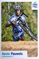 Postcard Kevin Pauwels -  Fidea Cycling Team - 2008/2009 - Cycling