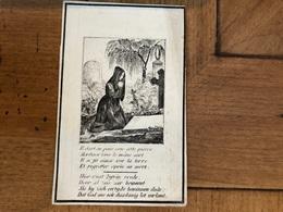 Buysschaert Ludovica Antoinette Weduwe Dobbelaere Ferdinandus *1792 Kortrijk +1848 Kortrijk Doodsprentje - Obituary Notices