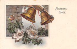 Heureux Noël - Paillettes - Cloches - Fleurs - Men