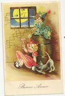 1890 - Bonne Année - Enfants - Lune - Anno Nuovo