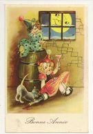 1891 - Bonne Année - Enfants - Lune - Anno Nuovo