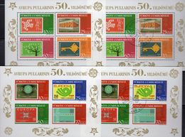 EUROPA-Marken 2005 Türkei Blocks 58B+Bl.59A **/o 50€ 50 Years CEPT Stamps On Stamp Bloque Hojas Blocs M/s Sheets TK - 1921-... Republic