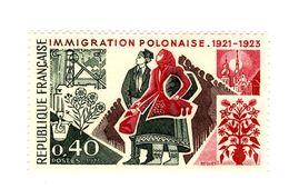 Immigration Polonaise YT 1740 Avec Gomme Tropicale Mate . Rare , Voir Le Scan . Maury N° 1740a : 45 € . - Variedades Y Curiosidades