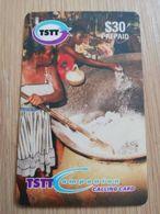 TRINIDAD & TOBAGO    $30,-  NO T&T-P3  TSTT  FESTIVE COOK UP    ** 2199** - Trinité & Tobago