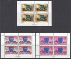 JERSEY 132, 135, 137, 3 Heftchenblätter Aus MH 21, Postfrisch **,  Pfarrgemeinden Und Deren Wappen, 1976 - Jersey