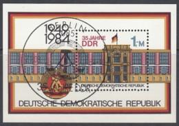 DDR  Block 77, Gestempelt, 35 Jahre DDR 1984 - DDR