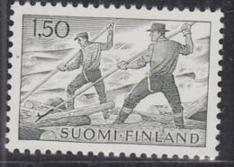 FINNLAND  582 Y, Postfrisch **, Flößer, 1963 - Finlande