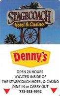 Stagecoach Hotel & Casino - Beatty, NV - Hotel Room Key Card - Hotel Keycards