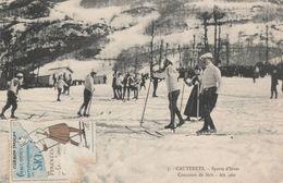 Cauterets - Sport D'hiver - Concours De Skis  - Scan Recto-verso - Cauterets
