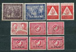 Germany, Soviet Zone 1948, MiNr 198-9 - 233, Unused (3 Used) - Lot Of 10 Stamps - Catalogue Value: 16 Euro - Zone Soviétique