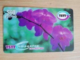 TRINIDAD & TOBAGO    $60,-  NO T&T-P8  TSTT   ORCHIDEE PURPLE FLOWERS    ** 2203** - Trinité & Tobago