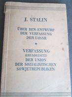 J. STALIN, UBER DEN ENTWURF DER VERFASSUNG DER USSR, MOSKAU 1945 - 5. Guerras Mundiales