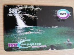 TRINIDAD & TOBAGO    $60,-  NO T&T-P 10   TSTT   BLUE BASIN      ** 2204** - Trinité & Tobago