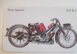 Carta Telefonica  Moto Scott Squrrel - Motos