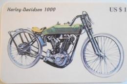 Carta Telefonica  Moto Harley Davidson 1000 - Motos