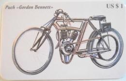 Carta Telefonica  Moto Puch Gordon Bennett - Motos
