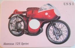 Carta Telefonica  Moto Montesa 125 Sprint - Motos