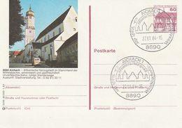 """Bundesrepublik Deutschland / 1983 / Bildpostkarte """"AICHACH"""" Mit Bildgleichem Stempel (BO29) - [7] Federal Republic"""
