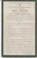 BP Doom Henri (+Geluwe 1915) - Collections