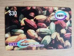 TRINIDAD & TOBAGO    $30,-  NO T&T-P 17   TSTT   COCOA PODS       ** 2209** - Trinité & Tobago