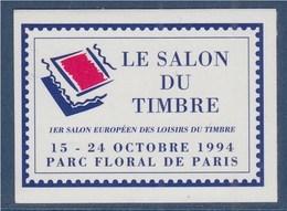 1er Salon Européen Des Loisirs Et Du Timbre Parc Floral De Vincennes Vignette Annonce Adhésive Non Dentelée N°26 Neuve - Erinnophilie