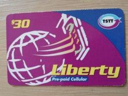 TRINIDAD & TOBAGO    $30,- LIBERTY PURPLE THIN       ** 2211** - Trinité & Tobago