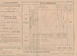 1518 32 Commune De St CLAR Gers   CANTALOUP Perception  St Clar  Février 1938  Impôts Avertissement  Taxe Communale - Frankreich