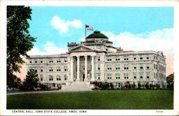 Iowa Ames Iowa State College Central Hall Curteich - Ames