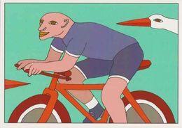 Cpm 1741/564 ERGON - Homme à Bicyclette  - Vélo - Cyclisme - Bicycle - Cycle - Cigogne - Illustrateurs - Illustrateur - Ergon