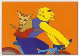 Cpm 1741/565 ERGON - Homme à Bicyclette  - Vélo - Cyclisme - Bicycle - Cycle - Animal - Illustrateurs - Illustrateur - Ergon